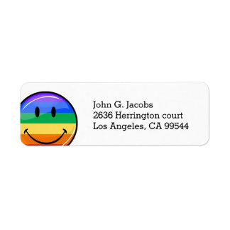 Glossy Round Smiling Gay Pride Flag