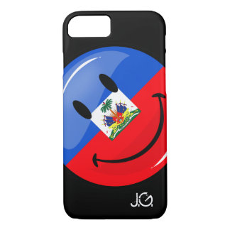 Glossy Round Smiling Haitian Flag iPhone 7 Case