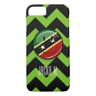 Glossy Round Smiling St. Kitts and Nevis Flag iPhone 7 Case