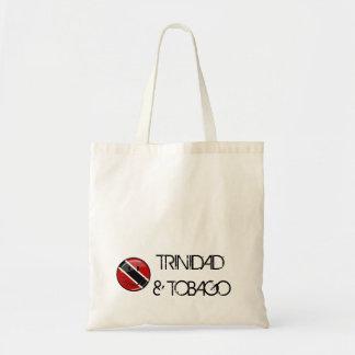 Glossy Round Smiling Trinidad and Tobago Flag Budget Tote Bag