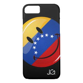 Glossy Round Smiling Venezuelan Flag iPhone 8/7 Case