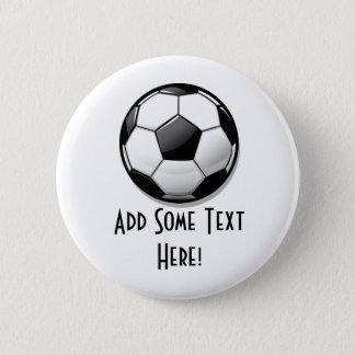 Glossy Round Soccer Ball 2 Inch Round Button