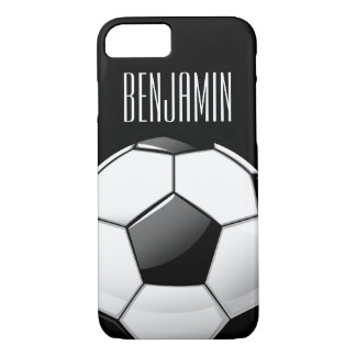 Glossy Round Soccer Ball iPhone 8/7 Case