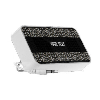 Glossy silver metal notebook speakers