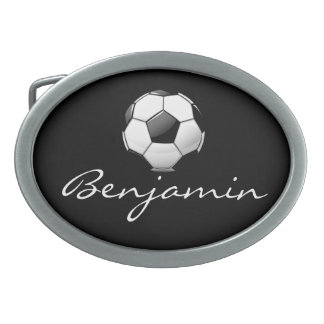 Glossy Soccer Ball Belt Buckles