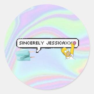 Glossy sticker sincerely jessicaxxo banner youtube