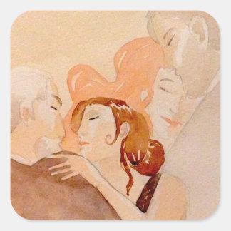 glossy tango square sticker