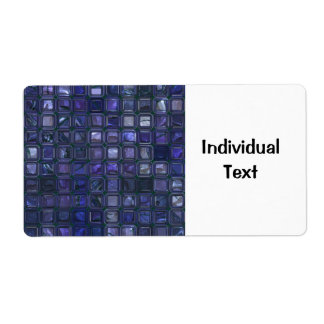 glossy tiles,blue (I) Shipping Label