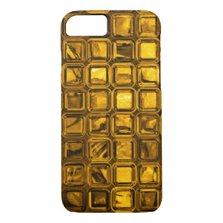 glossy tiles, golden (I) iPhone 7 Case