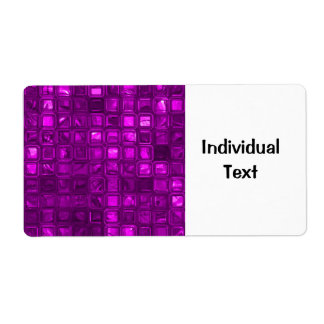 glossy tiles,hot pink (I) Shipping Label