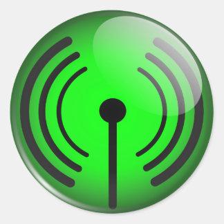 Glossy wifi sticker