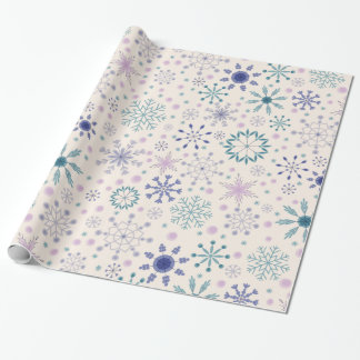 Glossy winter wrapper paper
