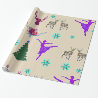 Glossy Wrapping Paper, 30 in x 6 ft Happy Holidays Wrapping Paper