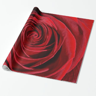 Glossy Wrapping Paper - Red Rose