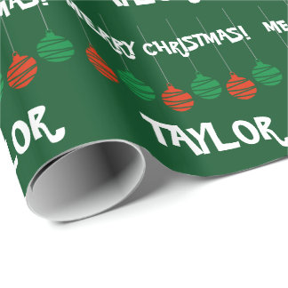 Glossy wrappingpaper with personalized name