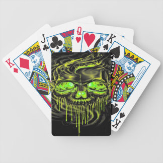 Glossy Yella Skeletons Bicycle Playing Cards
