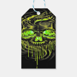 Glossy Yella Skeletons Gift Tags