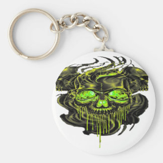 Glossy Yella Skeletons PNG Keychain