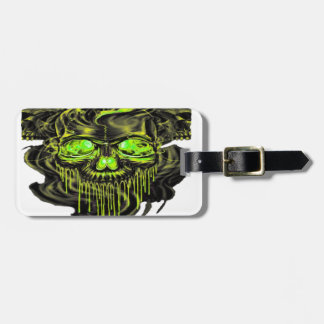 Glossy Yella Skeletons PNG Luggage Tag