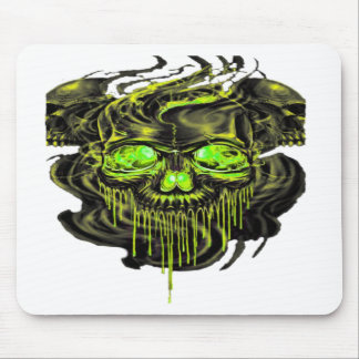 Glossy Yella Skeletons PNG Mouse Pad