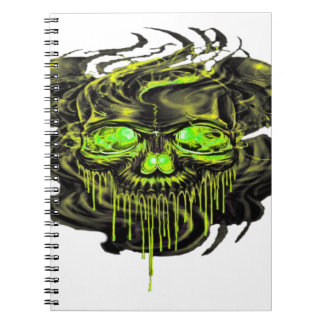Glossy Yella Skeletons PNG Notebook