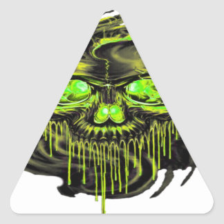 Glossy Yella Skeletons PNG Triangle Sticker