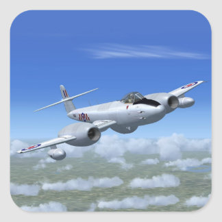 Gloster Meteor Jet Fighter Plane Square Sticker
