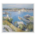 Gloucester Harbour, 1895 Willard Leroy Metcalf Poster