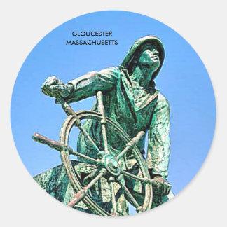 GLOUCESTER  MASSACHUSETTS CLASSIC ROUND STICKER