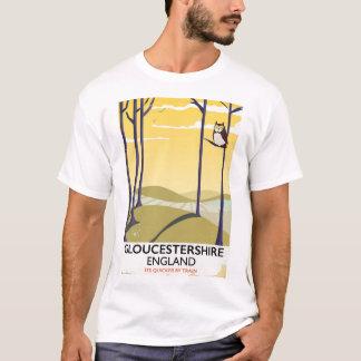 Gloucestershire, England Train travel poster. T-Shirt