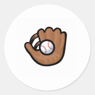 Glove & Ball Classic Round Sticker
