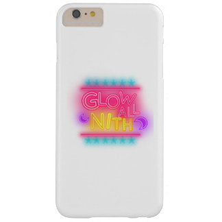 Glow All Night Paint Splatter Neon Glow Party Gift Barely There iPhone 6 Plus Case