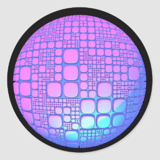 Glow ball classic round sticker