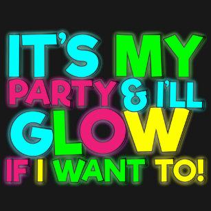 Glow Birthday Party Ruffle Tshirt