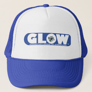 GLOW Cap Blue Logo Trucker Hat