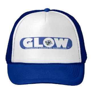 GLOW Cap Blue Logo Trucker Hat