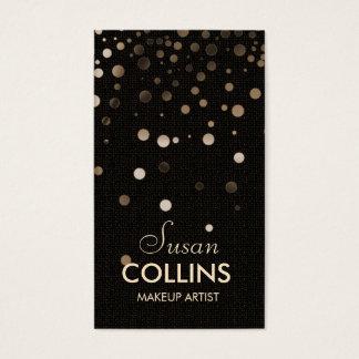 Glow Glitter Sparkle Gold Makeup Artist Fashion Business Card