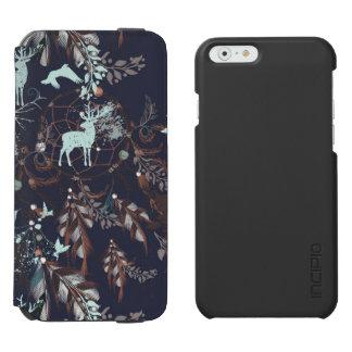 Glow in dark nature boho tribal pattern incipio watson™ iPhone 6 wallet case