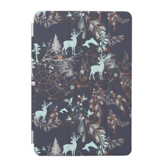 Glow in dark nature boho tribal pattern iPad mini cover