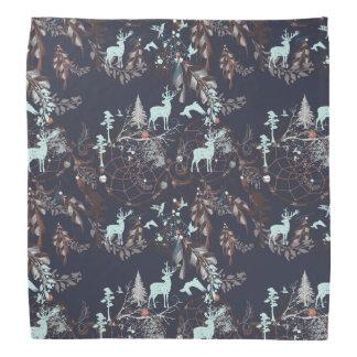 Glow in dark nature boho tribal pattern kerchiefs