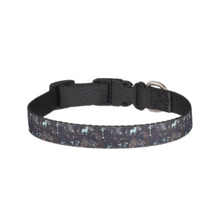 Glow in dark nature boho tribal pattern pet collar