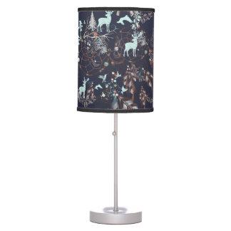 Glow in dark nature boho tribal pattern table lamp