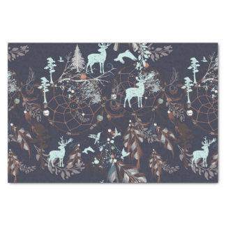 Glow in dark nature boho tribal pattern tissue paper
