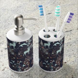 Glow in dark nature boho tribal pattern toothbrush holders