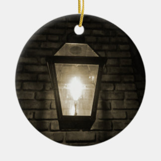 Glow In the Alley Round Ceramic Ornament