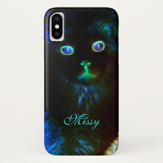 Glow In The Dark Cat iPhone X Case