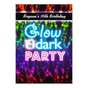 neon party invitations announcements zazzle ca