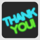 Glow in the Dark Thank You Square Sticker