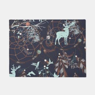 Glow in the dark tribal boho pattern doormat