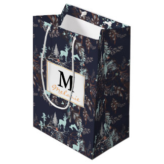 Glow in the dark tribal boho pattern medium gift bag